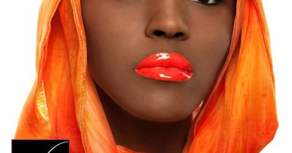 Black Woman With Bright Orange Lipstick Orange Lipstick