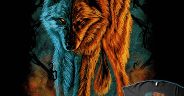 Shirtoid Ice Wolf Wallpaper Ice Wolf Fire And Ice Astonishing fire and ice wallpapers
