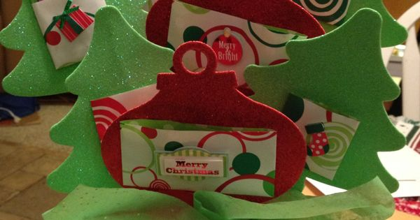 Gift card tree made with dollar items from target for Craft paper dollar tree