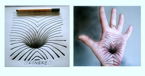 Hoe teken je een 3d 3 gat in je hand hoe handen te for Tekenen in 3d