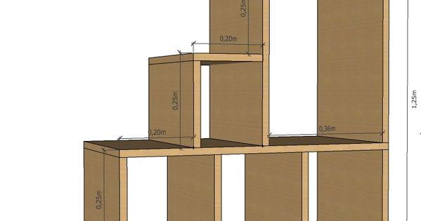 plan 2d de l 39 escalier tag re. Black Bedroom Furniture Sets. Home Design Ideas