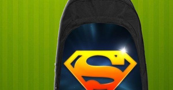 Superman Symbol  Custom Casual school bag, Backpack