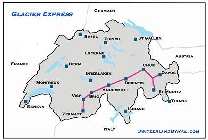 SWISS TRAIN : GLACIER EXPRESS PETIT-DIEULOIS