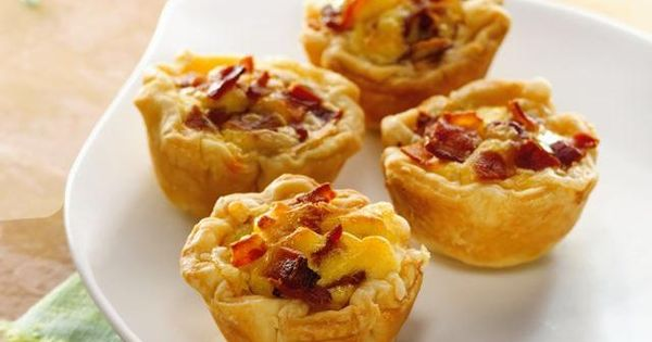 Mini Bacon-Cheese Cups easy to vary, think quiche breakfast cupcakes