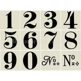 Old World Style No 1 Numbers 12 3x3 Stencils Number Stencils Stencils Printables Numbers Font
