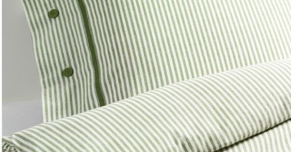 Green Ticking Stripe Duvet Cover Ikea Nwop Green Classic