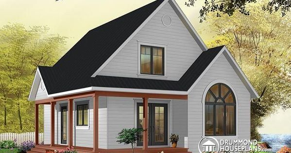 Popular cottage house plan with flex room on second floor for Affordable cottage house plans