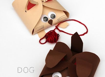 Dog and Cat Paper Gift Boxes- I just made one of these