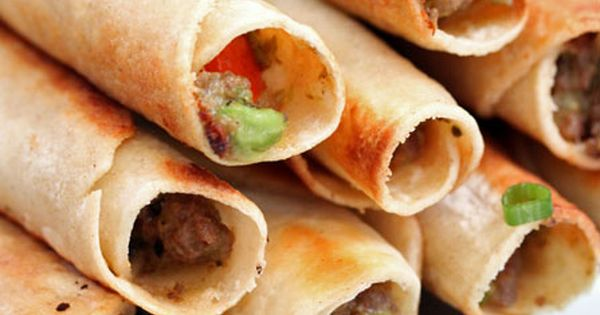 Taco Taquitos ~ Tortillas stuffed & rolled w/seasoned taco meat & all