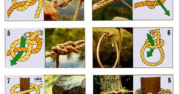 Camping HOW TO!!!!!! Tie the 10 most useful knots! Camping Outdoors Knots