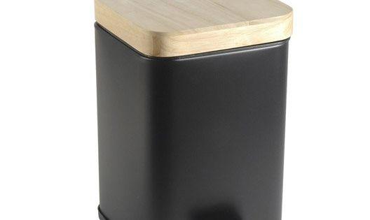 Poubelle de salle de bains 3 l noir noir 0 sensea scandi for Poubelle de salle de bain design noire soft touch 5l