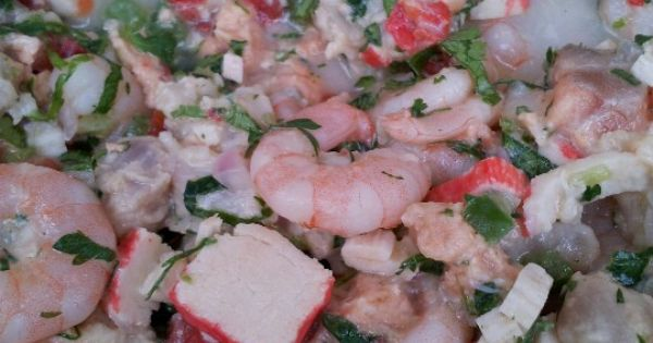 Ceviche, Cilantro and Salmon on Pinterest