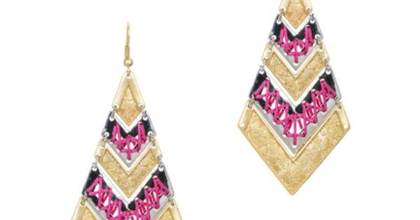 AUMRET Wood Geometric Woody Patterns National Retro Earrings