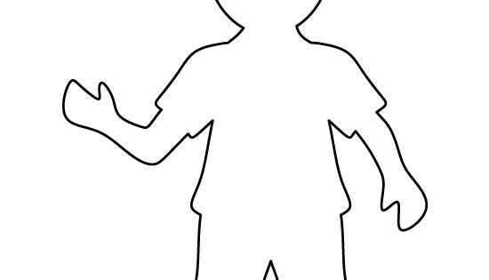 Boy pattern. Use the printable outline for crafts ...