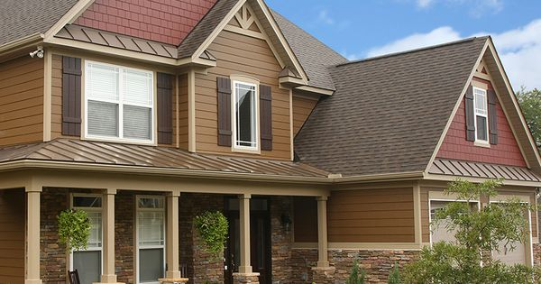 James Hardie Plank Lap Siding In Chestnut Brown And James