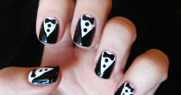 Tuxedo nails. So the ladies can dress up at red carpet events