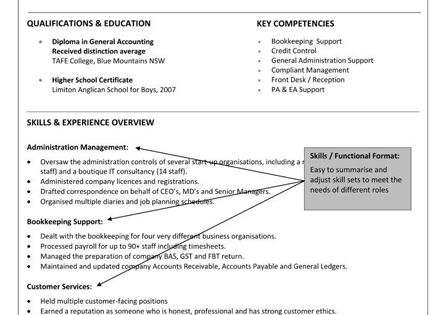 A Functional or Skills Based Resume has several advantages over a - sample higher education resume