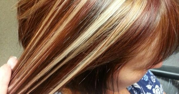 Cinnamon Base Color With Creamy Blonde Highlights And