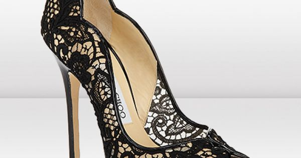 Black Lace heels by Jimmy Choo