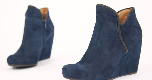 obsessed i need these so bad coclico blue suede wedge