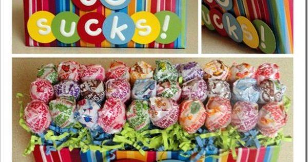 Creative Party Ideas by Cheryl: Lollipop Birthday Idea (30 sucks, 40 sucks,