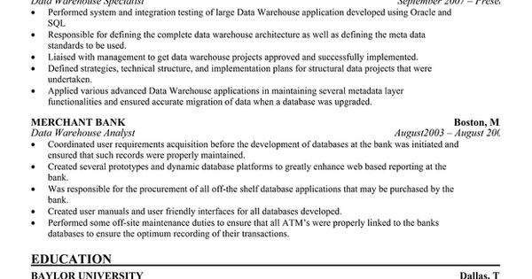 Data #Warehouse Manager Resume for Free (resumecompanion - warehouse manager resume