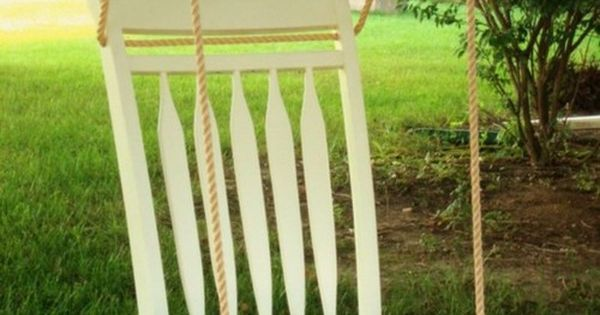 DIY What a great way to repurpose a cast-off old chair! swing