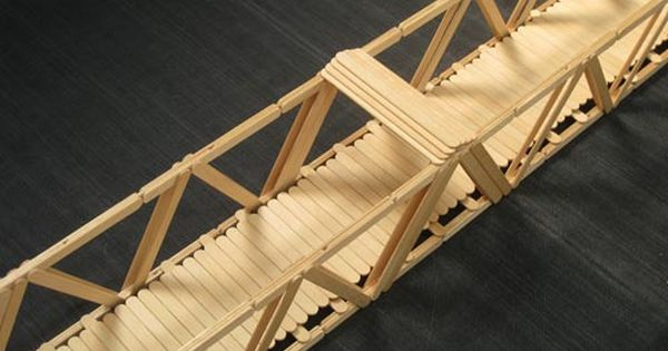 Popsicle stick bridge | Bridge, Stick crafts and Craft
