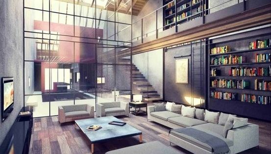 lofts inspiration 60 pics living rooms and room. Black Bedroom Furniture Sets. Home Design Ideas