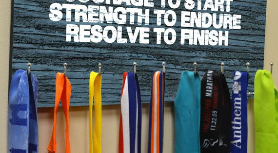 Medal Hook Hanger Running Medal Hanger Marathon by GoneForaRUN, $34.99