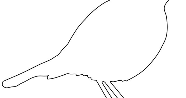Simple Bird Outline Template Templates Coloring Page \u2013 skincense