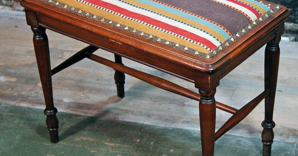 Reupholstered Piano Bench Painting Mavens Pinterest