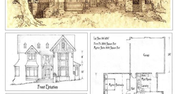 Front Elevation Antique : House front elevation and plan by built ever viantart