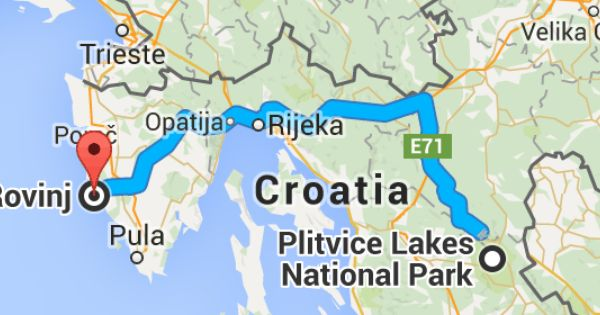 How Far Is Rovinj From Plitvice Plitvice Lakes National Park Plitvice Lakes Rovinj