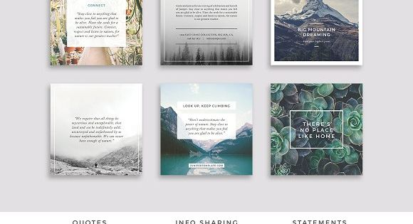 J U N I P E R Social Media Pack – beautiful multipurpose Social Media Pack covering all bases with easy to use templates