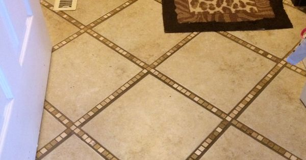 I Tiled My Bathroom Floor In A Diagonal Pattern Using Tiny