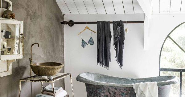 Vintage badkamer vintage bathroom vtwonen 10 2016 photography sjoerd eickmans styling - Deco badkamer natuur ...