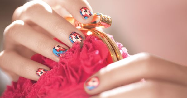 DIY Beauty Guide: The Ikat-Patterned Manicure : Lucky Guides : Lucky Magazine