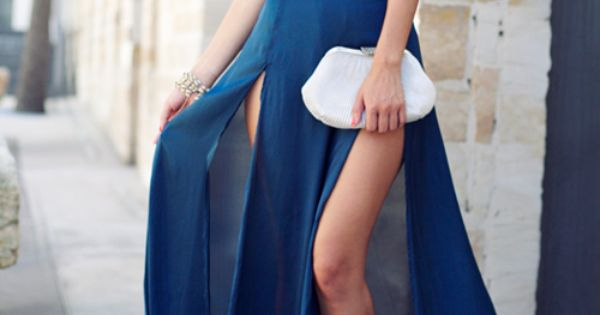 Skirt & Top by Style Stalker fashion blue maxi skirt