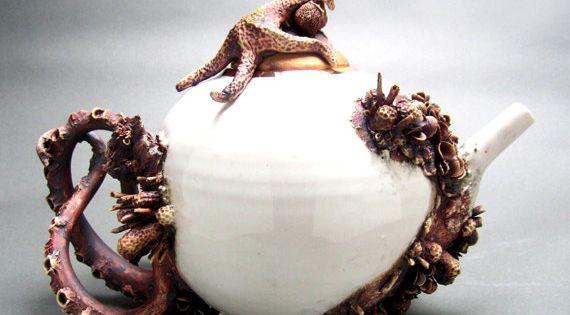 bottom feeder tea pot Mary O'Malley Ceramics $2400. i want to take