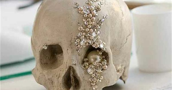 Wouldn't be a Halloween Decoration for us! Glam Skull Halloween decoration. My