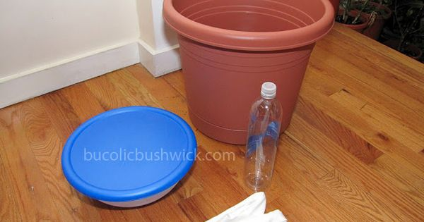DIY Self Watering Container: How to Convert a Standard Planter Great idea