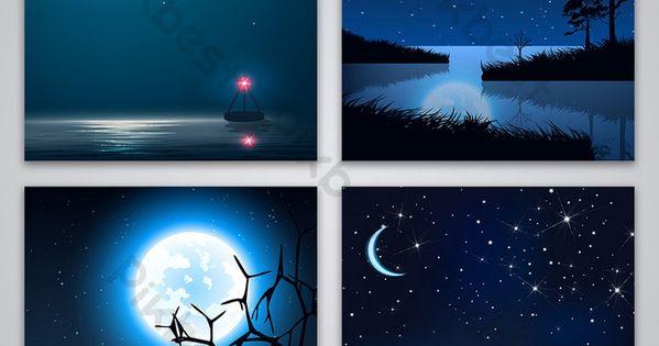 ليلة السماء الزرقاء المرصعة بالنجوم الخلفية خلفيات Ai تحميل مجاني Pikbest In 2020 Blue Sky Background Background Blue Poster