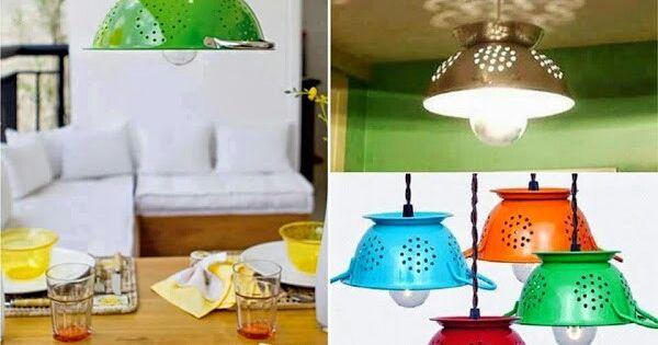 Lamparas para cocina recicladas ideas en el hogar - Lamparas para el hogar ...