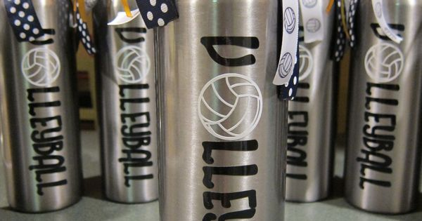 Personalized Team Sports Volleyball Water Bottle by MakinItSassy team gift idea