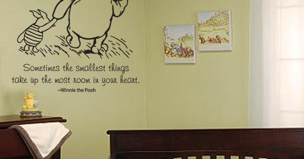 Classic winnie the pooh and piglet sometimes the smallest for Classic pooh wall mural