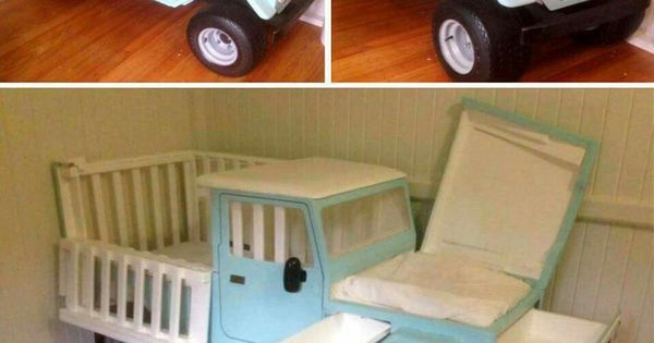 A Car Crib With Storage And A Changing Table Crafty