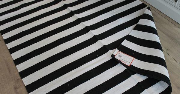 teppich schwarz wei gestreift streifen 140x200 von. Black Bedroom Furniture Sets. Home Design Ideas