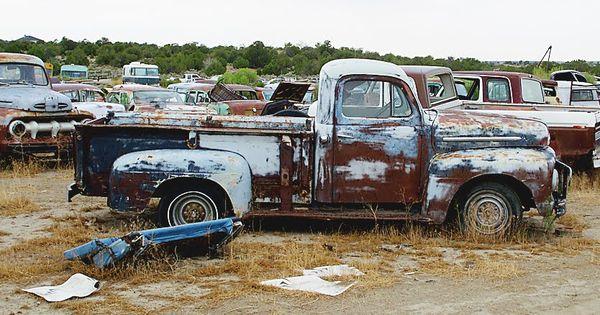Salvage Yard Vintage Ford Fenders Trucks In Junk Yard