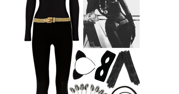 "Cat woman costume. ""Me-ow!"" by azurafae on Polyvore"